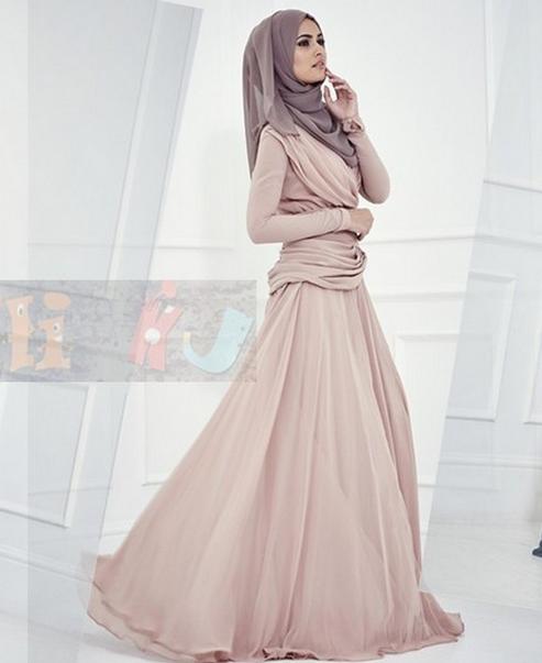 Model Gamis Sifon terbaru 2016 Yang terlihat Anggun