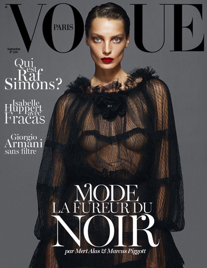 Daria Werbowy, Lara Stone & Kate Moss in Vogue Paris September 2012 (photography: Mert Alas & Marcus Piggott)