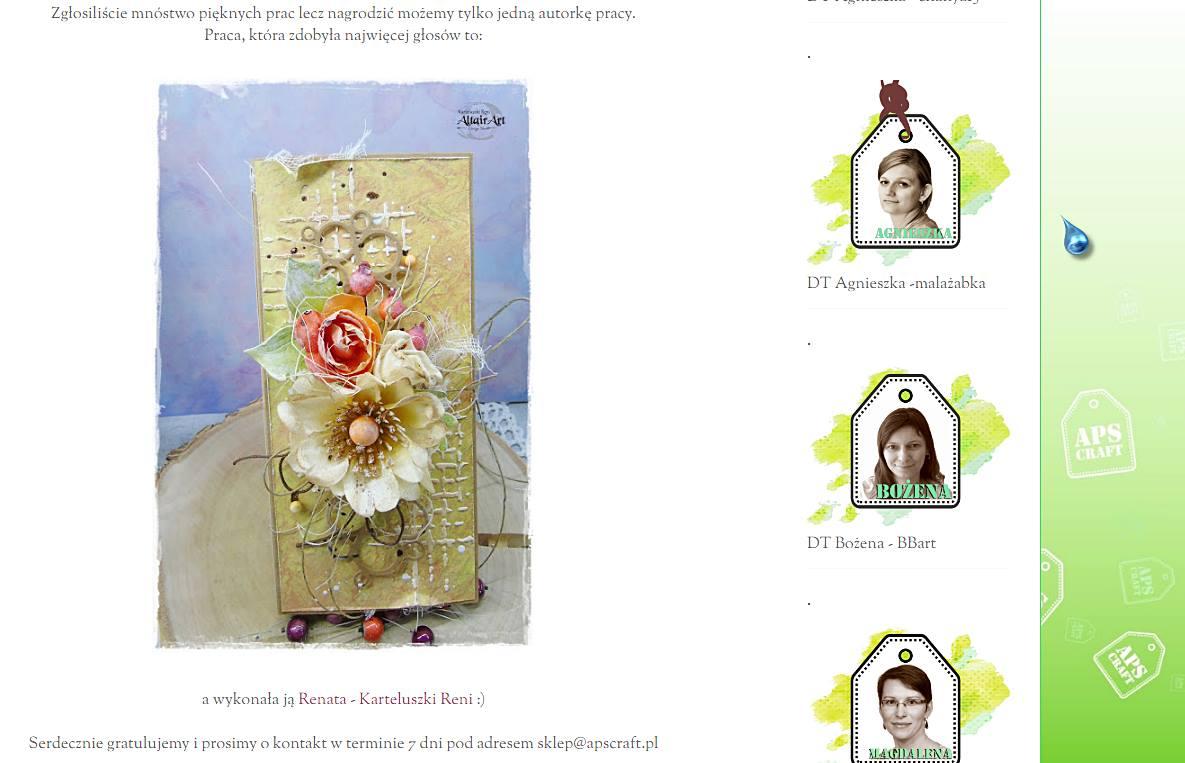 Nagroda w ASPcraft - czekoladownik z jesiennymi kwiatami