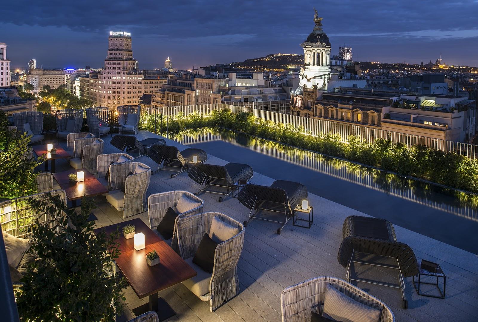 Mi selecci n de terrazas de hotel en barcelona s nia for Top design hotels barcelona