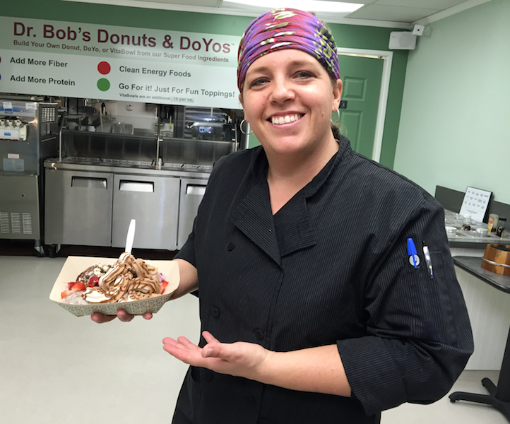 Tasha Richard presents the DoYo (Dr. Bob's donut with dairy-free yogurt)