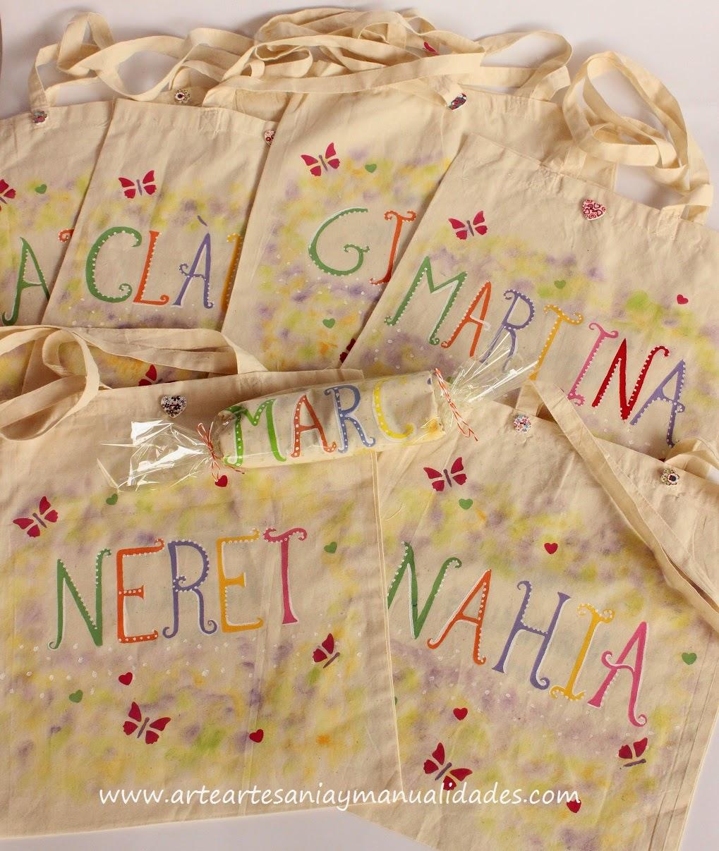 Arte artesania y manualidades bolsas de tela para ni os - Bolsas de tela para ninos ...