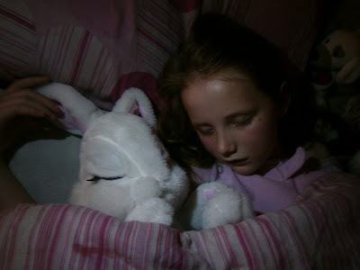 Milky the bunny soft and snuggly in bed toy girls