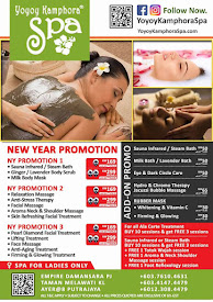 2018 NEW YEAR SPA PROMOTION AT YOYOY KAMPHORA SPA