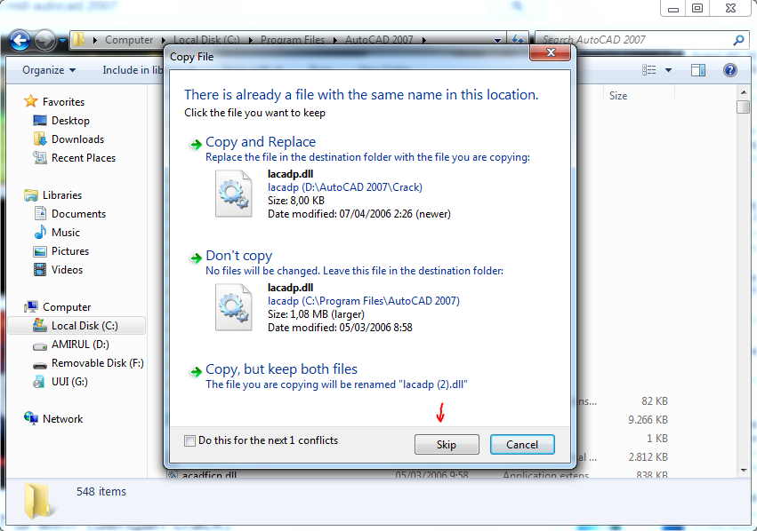 ack ACTIVATION code for AUTOCAD 2007