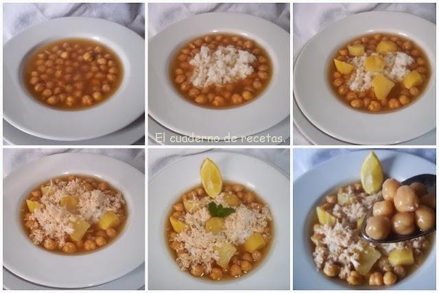 El cuaderno de recetas cocido ligerito olla r pida - Cocido de garbanzos en olla express ...