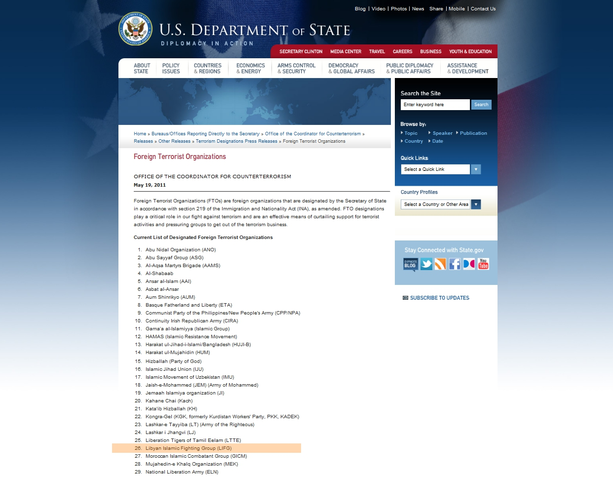 libyan rebels listed by us state department as terrorists