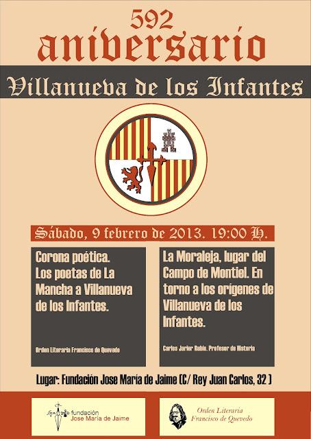 592 aniversario, Villanueva de los infantes, Campo de Montiel, Ciudad Real, España