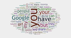My Google + Word Cloud