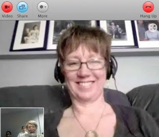 This is a screenshot of the Skype interview with Ms. Kathy Cassidy