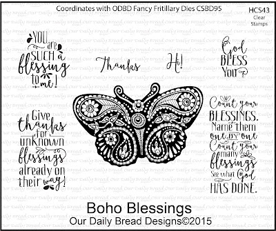 Our Daily Bread Designs Stamp set: Boho Blessings