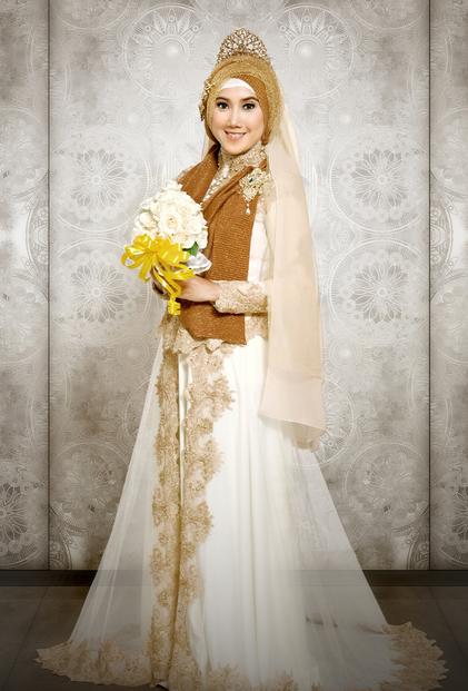 Model gaun pengantin Muslim Modern terbaru 2016