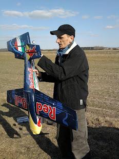 Przed lotem w Radzyniu Podlaskim - Krzysztof Celiński.