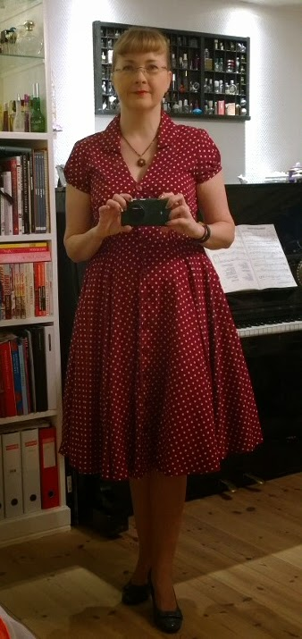 Hell Bunny Raspberry Polka Dot Dress