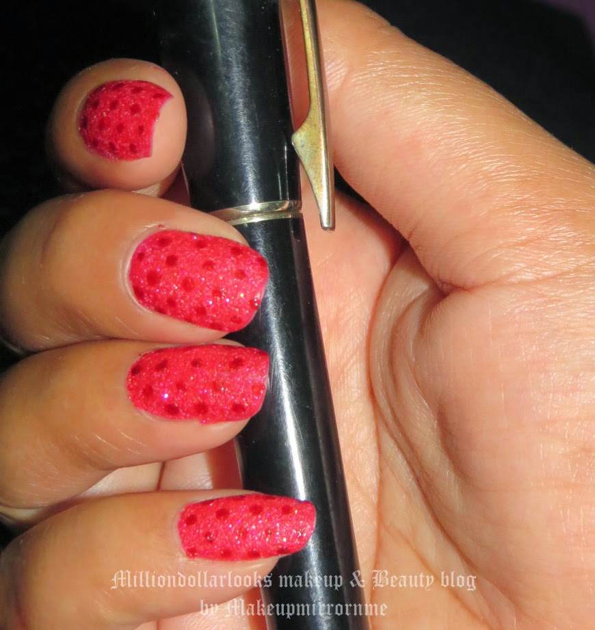 Red on Red Polka Dots | Nail art of the day, Red nail paint, Maybelline color show glitter mania Nail paint, Red carpet, Indian makeup and beauty blog, Makeup and beauty blog India, Beauty blogger, Beauty blogger, Nail art blog