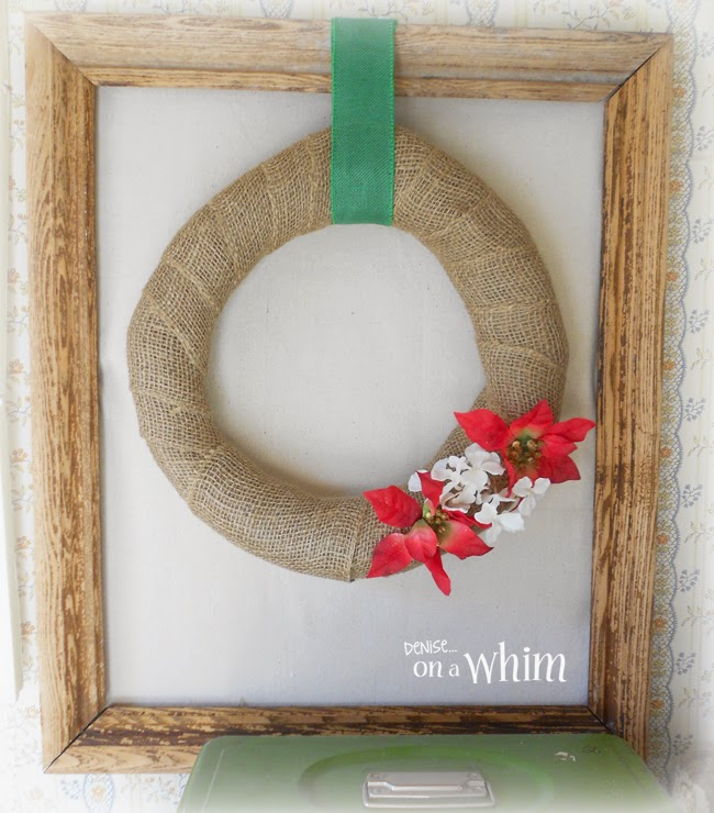 Framed Wreath from Denise on a Whim