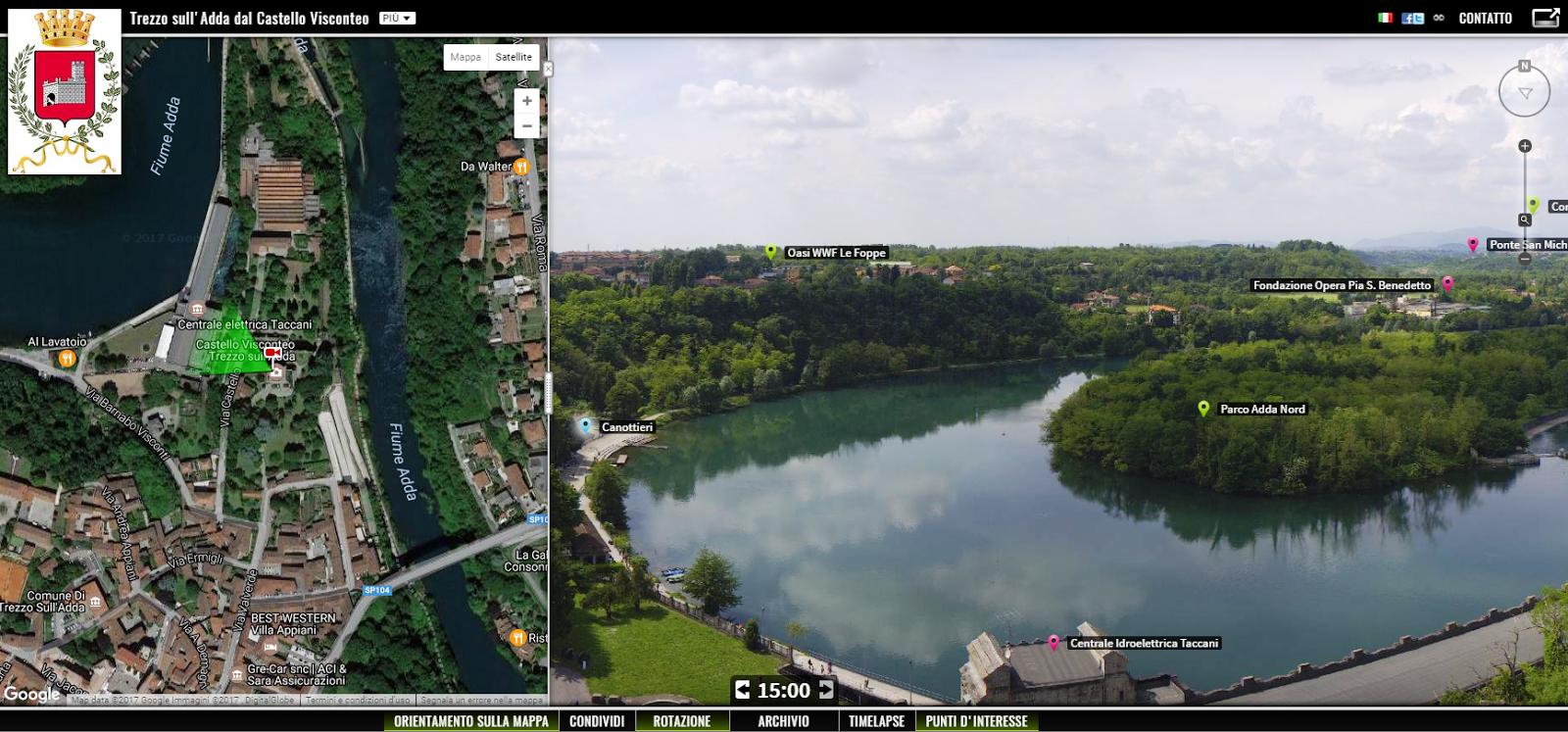 Webcam live dal castello di Trezzo
