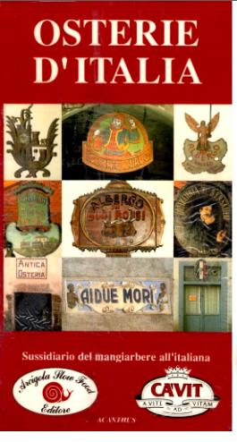 Risultati immagini per osterie d'italia 1991
