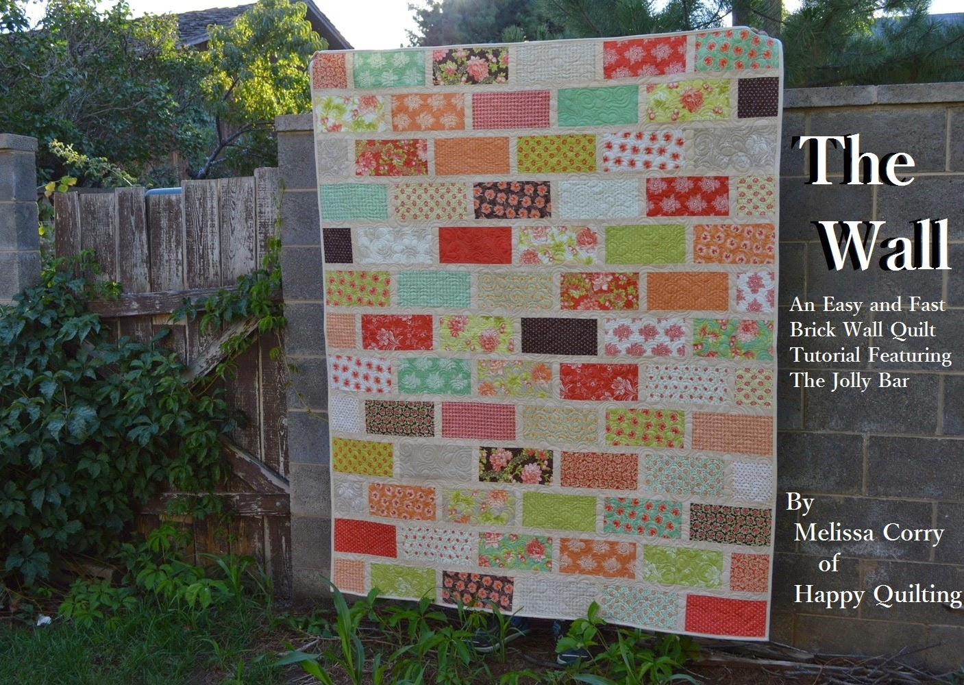 Happy Quilting The Wall A Brick Wall Quilt Tutorial