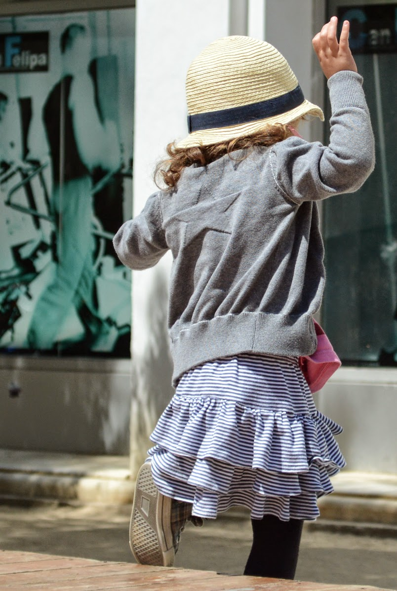 KIDdO Style: Molo Kids cardigan, vintage tank and Green Cotton ballerina skirt