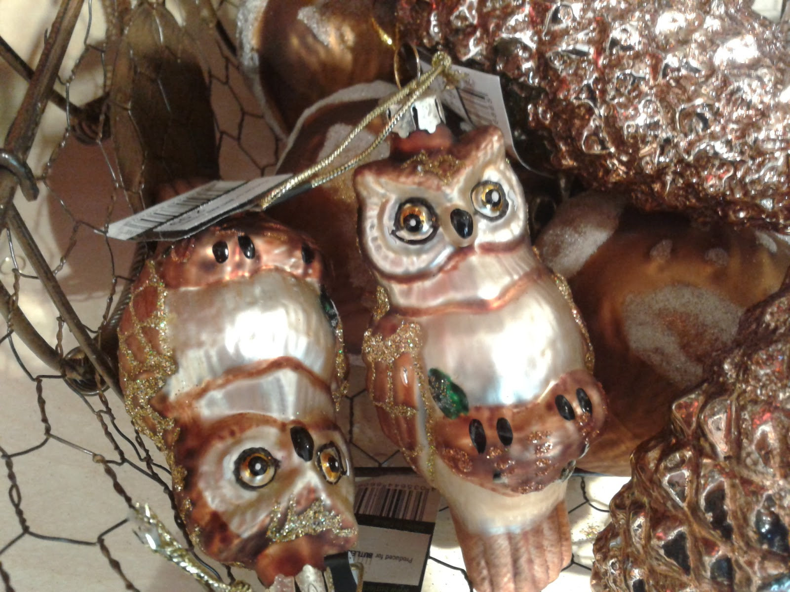 Owl Christmas decoration