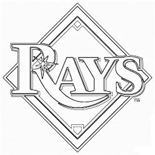 Escudo de las mantarayas de Tampa Bay para colorear