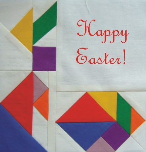 3patchcrafts Tangram Paper Pieced Easter Bunny And Egg