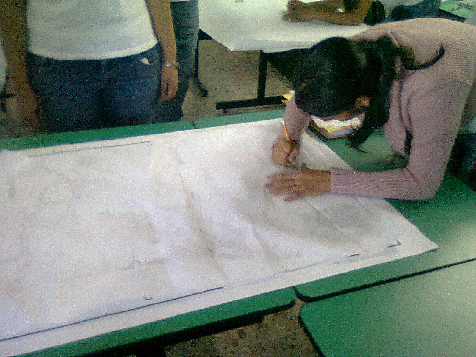 La geograf a y su ense anza como hacer un mapa de gran for Como colocar papel mural