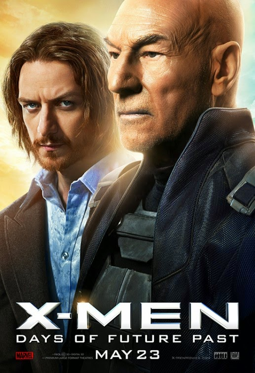 X-Men Days of Future Past Character Movie Poster Set - James McAvoy as Charles Xavier & Patrick Stewart as Professor X