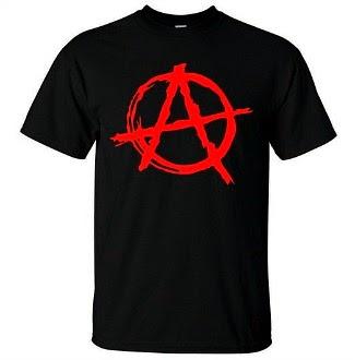 Anarchy Symbol Punk T-shirt for Men