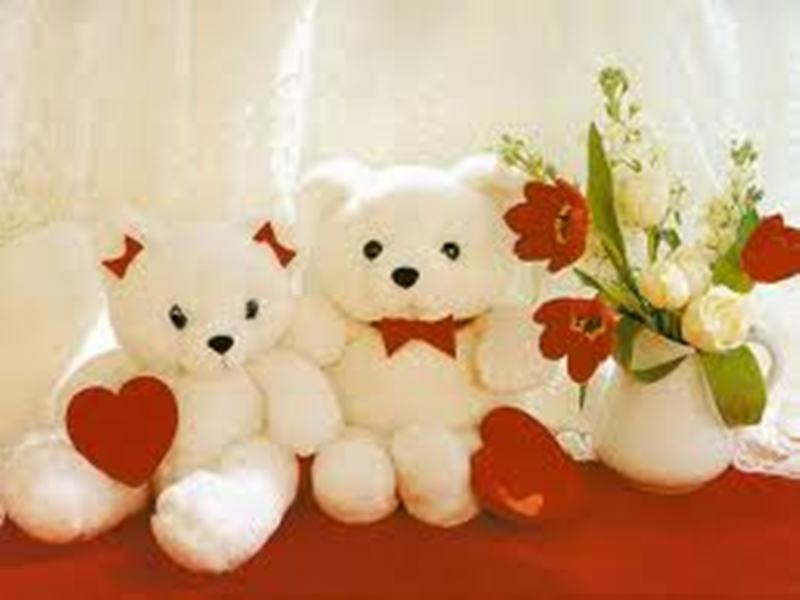 Download Latest Love Teddy Bear Wallpaper Wallpaper For Dining Room