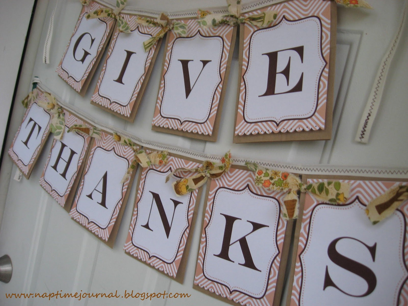 Nap Time Journal Give Thanks Banner  Free Printable Link