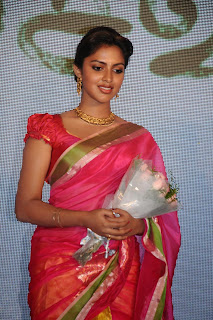 Actress Amala Paul Pictures in Pink Saree at Saivam Movie Audio Launch  0011.jpg