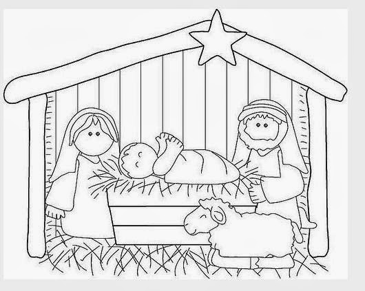 Dibujos navide os para pintar con los ni os mimundomanual - Dibujos navidenos para ninos ...
