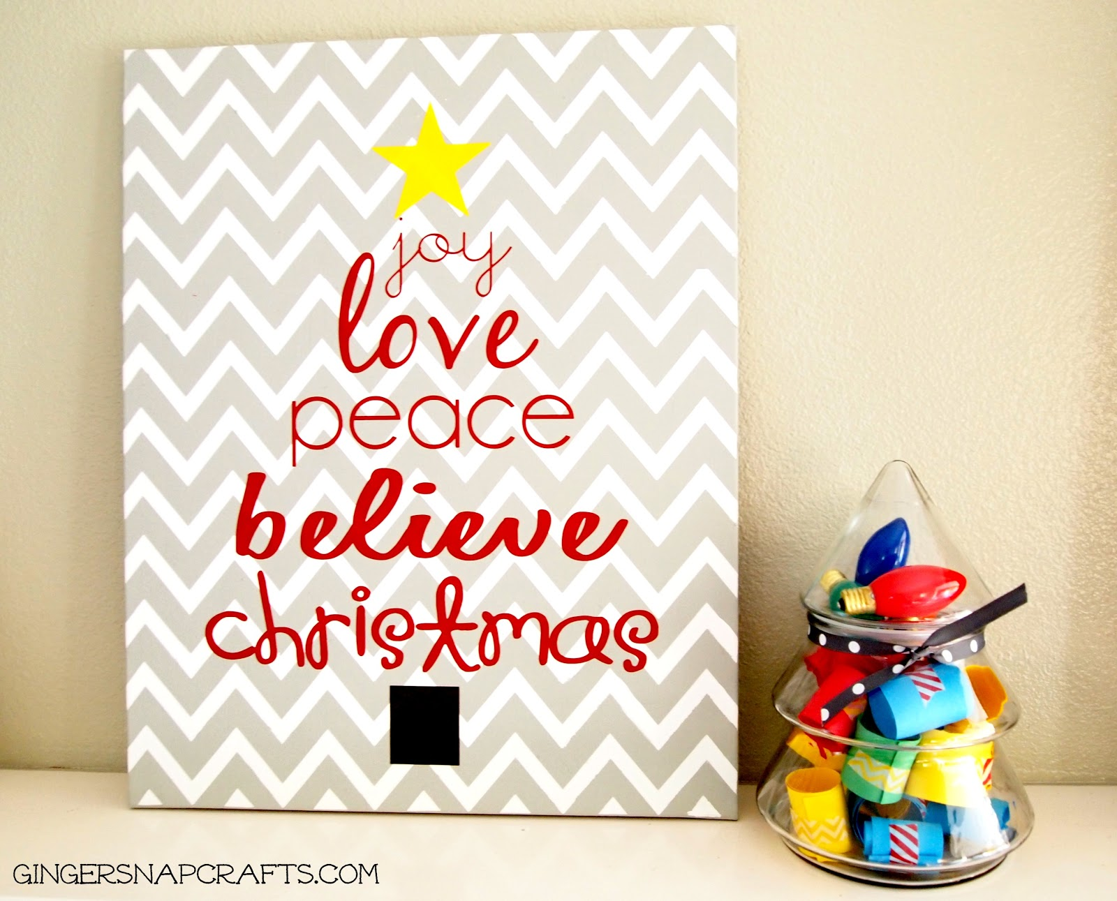 Easy christmas art for Easy christmas paintings on canvas