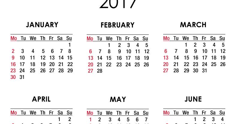 ... Studio, New York, NY: 2017 Calendar - Printable - Free - A4 Paper Size