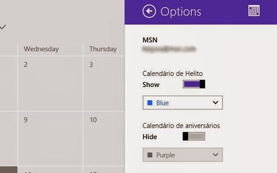 Desativando calendário de aniversários no Windows 8 - 560x350