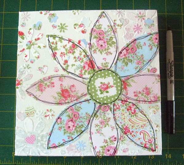 Making a flowery collage