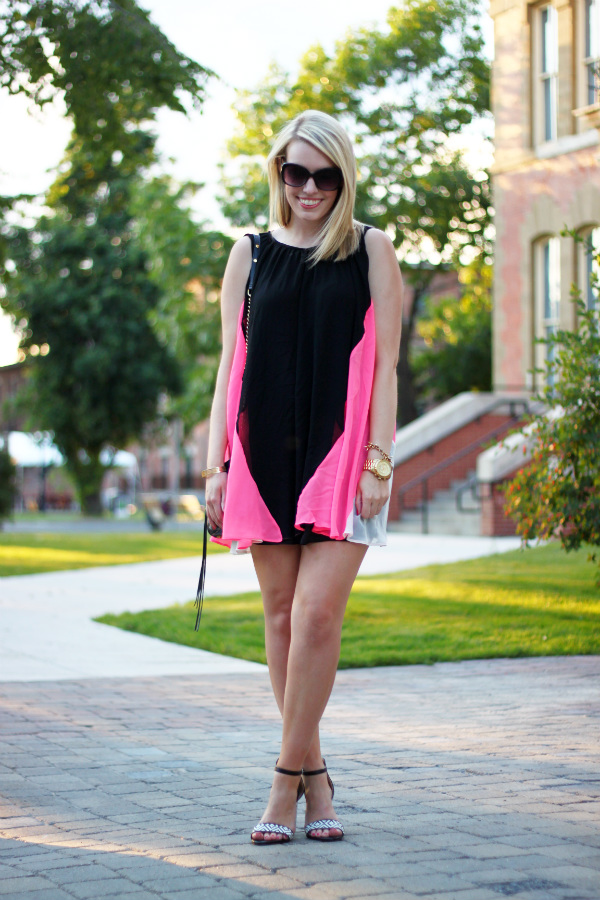lashes of london, lashes of london dress, zara shoes, zara ankle strap sandals, zara black and white sandals, zara black and white pumps, canadian fashion blogger