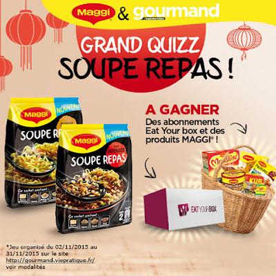 jeu concours Gourmand 20 coffrets de produits MAGGI à gagner !