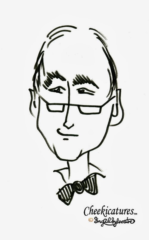 Cheekicatures TM - humorous entertainment at your corporate event, wedding, party prom - caricature by Ingrid Sylvestre UK Corporate caricatures