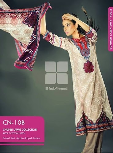 Gul Ahmed Chunri Dresses