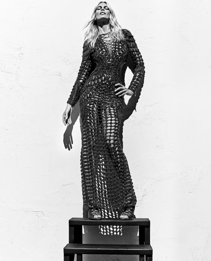 claudia schiffer for balmain