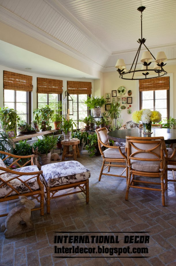 winter garden decorating ideas and trends, different plants shapes