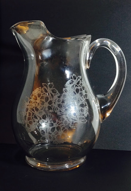etched glass pitcher lisa fulmer