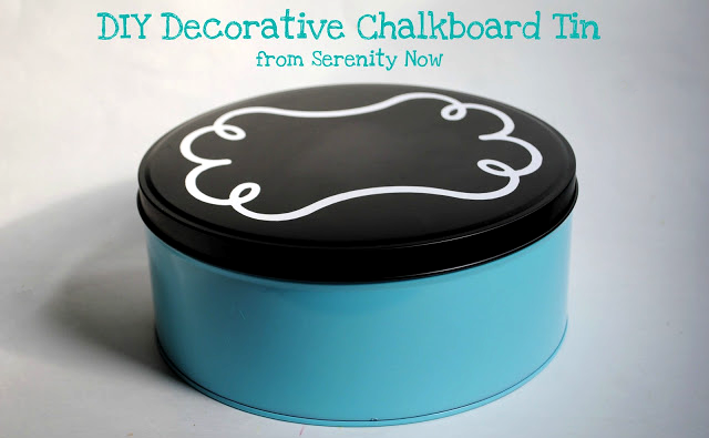 How to to give an old tin a chalkboard make-over!