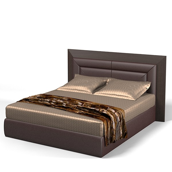 Modern Bed Back Designs : Smania+double+bed+high+back+leather+wenge+modern+contemporary ...