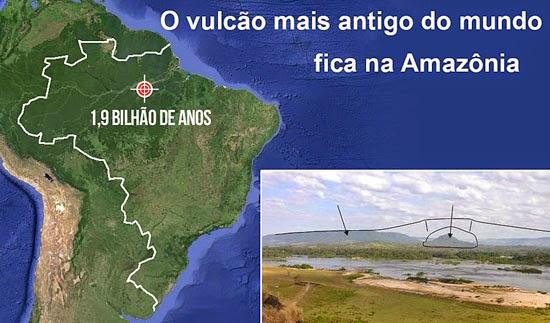 Vulcão na Amazônia