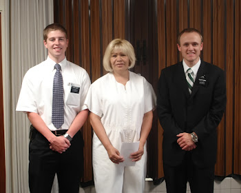 Maria with Elder Kinney and Faldmo