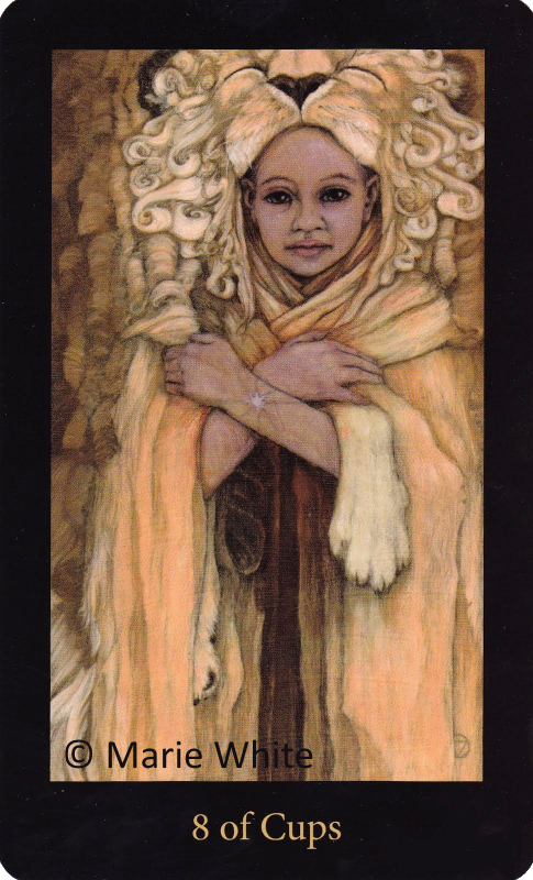 Mary El Tarot Eight of Cups Marie White
